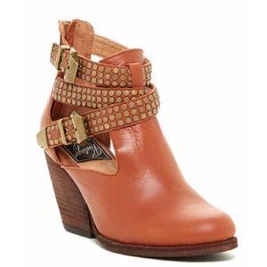 Jeffery Campbell Watson brown studded boots 8